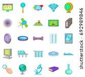 breakthrough icons set. cartoon ... | Shutterstock .eps vector #692989846