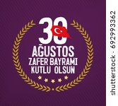 30 august zafer bayrami victory ...   Shutterstock .eps vector #692993362