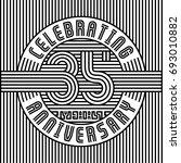 35 years anniversary logo.... | Shutterstock .eps vector #693010882
