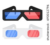 3d cinema glasses icon isolated ... | Shutterstock .eps vector #693012796