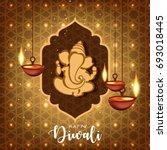 happy diwali wallpaper design...   Shutterstock .eps vector #693018445