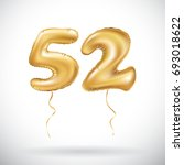 vector golden number 52 fifty... | Shutterstock .eps vector #693018622