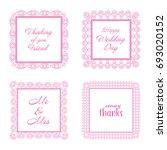 elegant lace border frames... | Shutterstock .eps vector #693020152