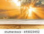 wooden table background | Shutterstock . vector #693023452