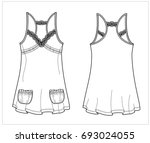 fashion chemise vector sketch | Shutterstock .eps vector #693024055