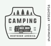 vintage camping outdoor and... | Shutterstock .eps vector #693024916