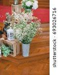 the flowers of wedding... | Shutterstock . vector #693026716