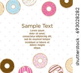 template design with donuts on...   Shutterstock .eps vector #693028282