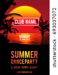 party flyer design . club music ... | Shutterstock .eps vector #693037072