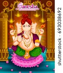 lord ganpati in vector for... | Shutterstock .eps vector #693038692