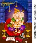 lord ganpati in vector for... | Shutterstock .eps vector #693038722