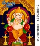 lord ganpati in vector for... | Shutterstock .eps vector #693038842