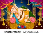 lord ganpati in vector for... | Shutterstock .eps vector #693038866