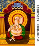 lord ganpati in vector for... | Shutterstock .eps vector #693038896
