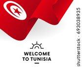 welcome to tunisia. tunisia... | Shutterstock .eps vector #693038935