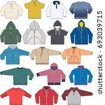 sweatshirt  hoodie and fleece... | Shutterstock .eps vector #693039715