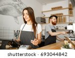 coffee business concept  ... | Shutterstock . vector #693044842