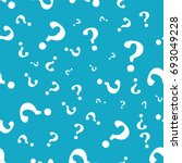 question mark seamless pattern .... | Shutterstock .eps vector #693049228