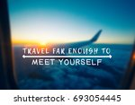 travel inspirational and... | Shutterstock . vector #693054445