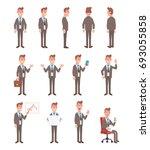 set of business man in... | Shutterstock .eps vector #693055858