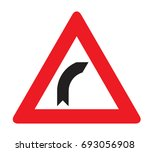 bend to right warning traffic... | Shutterstock .eps vector #693056908