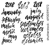 hand drawn set of months.... | Shutterstock .eps vector #693059572
