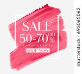 sale 50   70  off sign over... | Shutterstock .eps vector #693065062