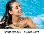 close up portrait of attractive ... | Shutterstock . vector #693068395