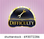 gold emblem or badge with... | Shutterstock .eps vector #693072286