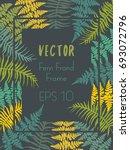 fern or polypodiophyta plant... | Shutterstock .eps vector #693072796