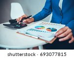 financial analysis expert... | Shutterstock . vector #693077815