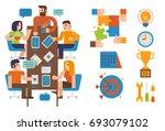 flat design illustration... | Shutterstock .eps vector #693079102