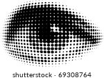 human eyes from black dots | Shutterstock .eps vector #69308764