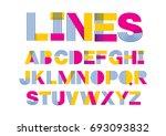 lines modern typography... | Shutterstock .eps vector #693093832