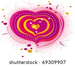 ornament in the form of... | Shutterstock .eps vector #69309907