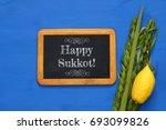 jewish festival of sukkot....   Shutterstock . vector #693099826