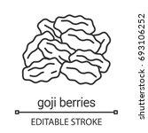 dried goji berries linear icon. ... | Shutterstock .eps vector #693106252
