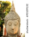 close up of old buddha. | Shutterstock . vector #693109132