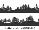 forest trees silhouettes... | Shutterstock .eps vector #693109846