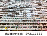 over crowded housing in hong... | Shutterstock . vector #693111886