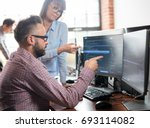 developing programming and... | Shutterstock . vector #693114082