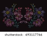 elegant hand drawn decoration... | Shutterstock . vector #693117766