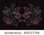 elegant hand drawn decoration...   Shutterstock . vector #693117766