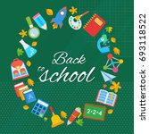 school background flat vector... | Shutterstock .eps vector #693118522