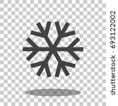 snowflake icon vector isolated   Shutterstock .eps vector #693122002