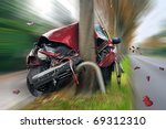 car crash | Shutterstock . vector #69312310