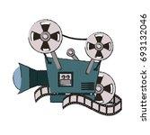 video camera vector illustration | Shutterstock .eps vector #693132046