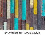 grunge colorful wood texture... | Shutterstock . vector #693132226