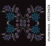 elegant hand drawn decoration...   Shutterstock . vector #693134626