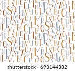 seamless pattern with hand... | Shutterstock .eps vector #693144382